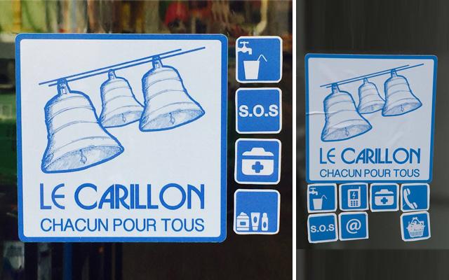 Autocollants du réseau Le Carillon