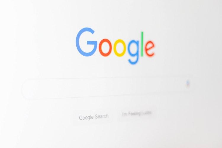 Une page de Google